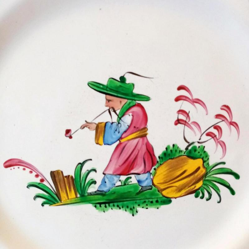 Earthenware Plate: Les Islettes XVIIIth Century.-photo-2