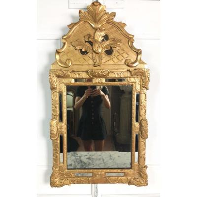 Mirror Parecloses Nineteenth In Golden Wood And Carved With Ice Mercury