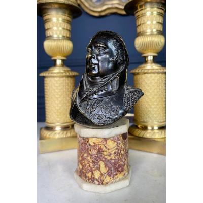 Bust Of Louis XVIII - Bronze Sculpture From The Early Nineteenth