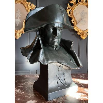 Bust Of Napoleon Bonaparte - Plaster Sculpture