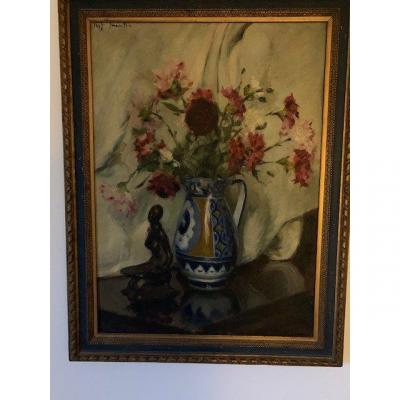 Large Still Life With The African Statue From 1926