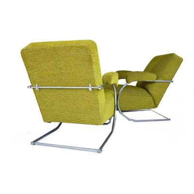 Suite Of 2 Bahaus Armchairs From The 1950s