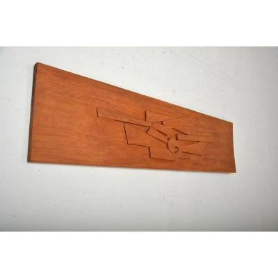 Work Carved In Solid Mahogany Dating From The 60s