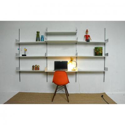 Système d'étagères modulables / Secrétaire du designer Dieter Rams édité par Vistoe, Allemagne