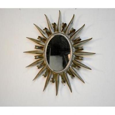 Miroir datant des années 60, en métal,