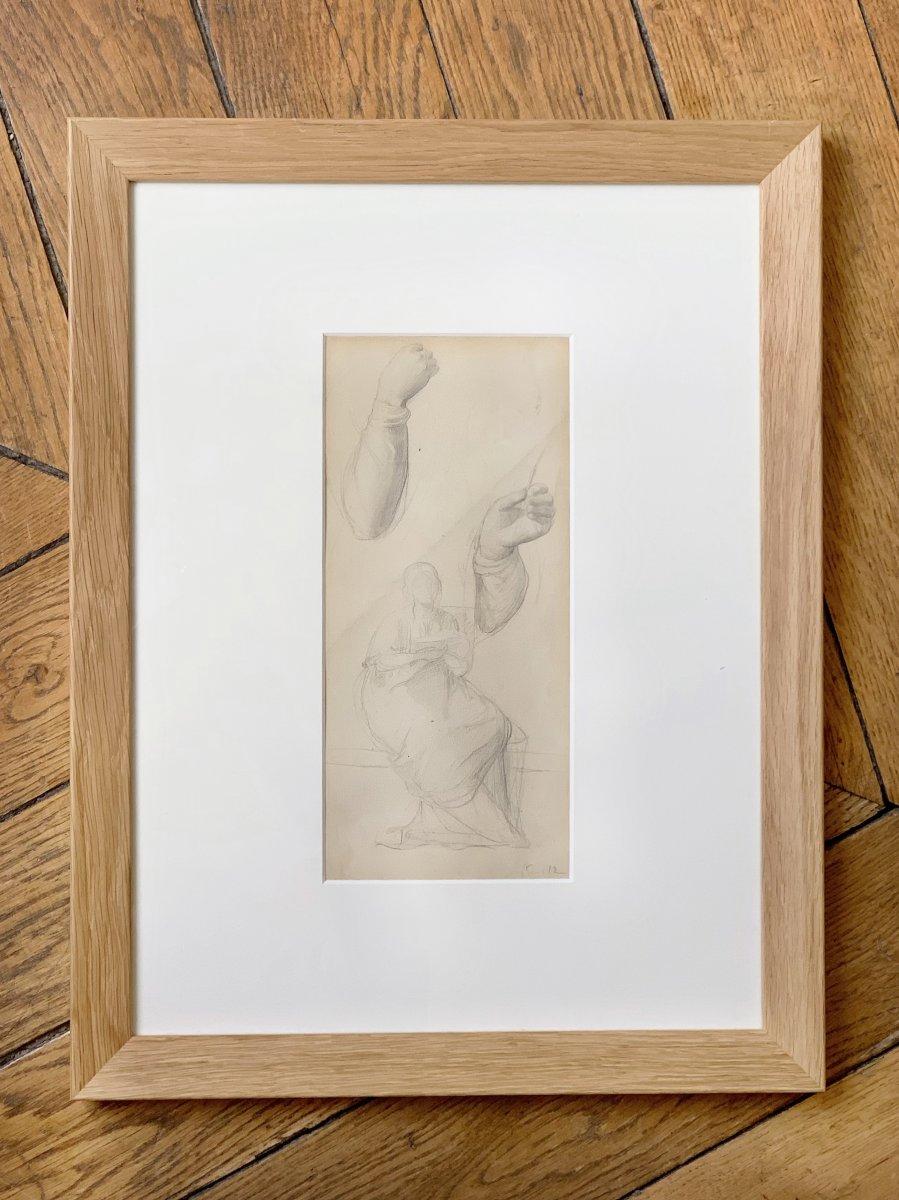 Louis Janmot (1814-1892) - Étude préparatoire au tableau Fleur des champs, circa 1845