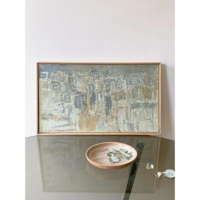 Georges Adilon (1928-2009) - Les Graniers, lumière dorée, années 1960