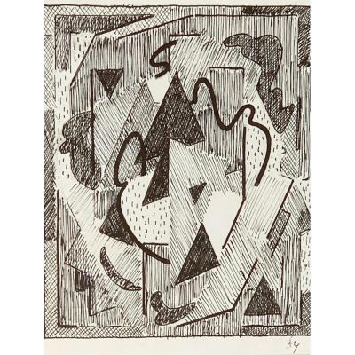 Albert Coste (1896-1985) - Composition Cubiste