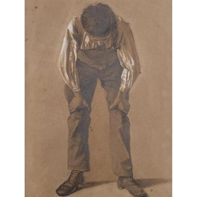 Marius-Antoine Barret (1865-1929), Homme à la salopette