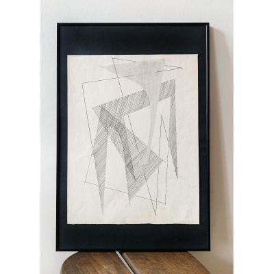Maurice Miot Dit Melito 1920-1994, Geometric Composition, Circa 1955
