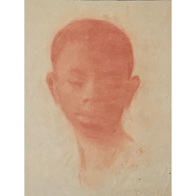 Édouard Brindeau de Jarny (1867-1943), Portrait d'un jeune africain, 1938