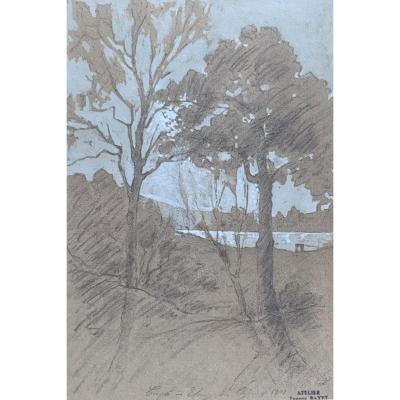 Eugène Bayet (1875-1937), Etang Des Chênes, 1901