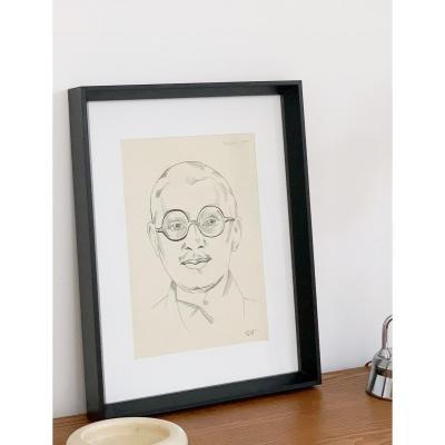 Raymonde Heudebert (1905-1991), Portrait de l'écrivain Edmond Jaloux (1878-1949), circa 1930
