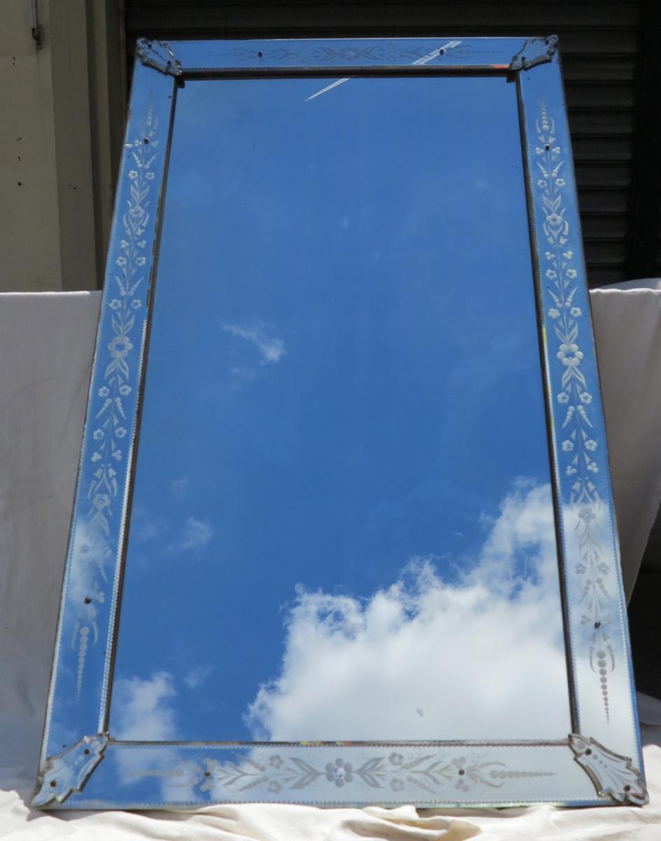 miroir venise rectangle a cabochons feuilles miroirs. Black Bedroom Furniture Sets. Home Design Ideas