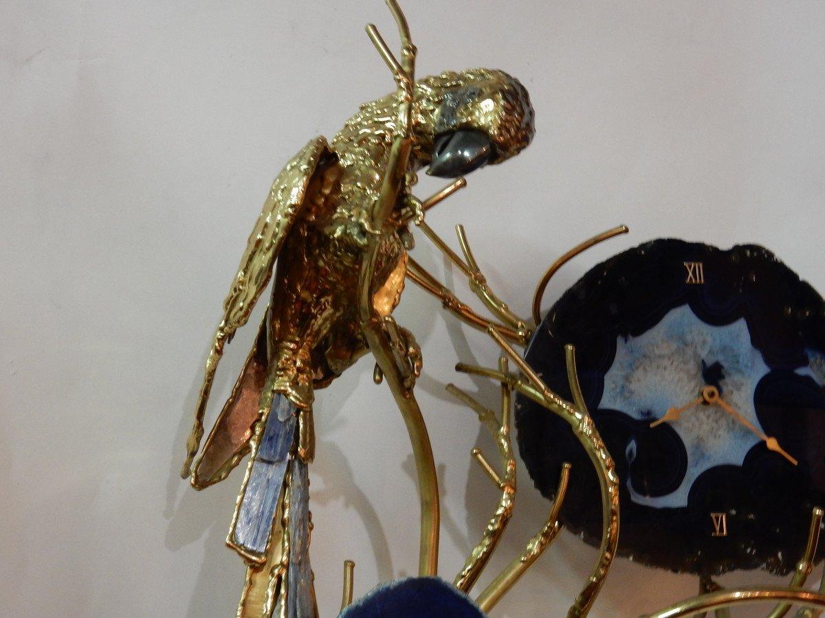 1970 'illuminating Clock With Parrot Faure, Fernandez Or Duval Brasseur Pour Honore - Paris-photo-1