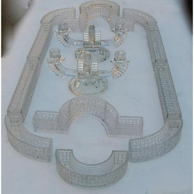 1900 ′ Table Runner Table Runner In Molded Baccarat Or St Louis 14 Pieces