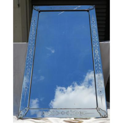 Miroir Venise Rectangle A Cabochons Feuilles
