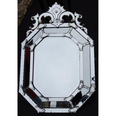 1820/50 Mirror St L XIV A Pareclose Tain Mercure 140 X 96 Cm