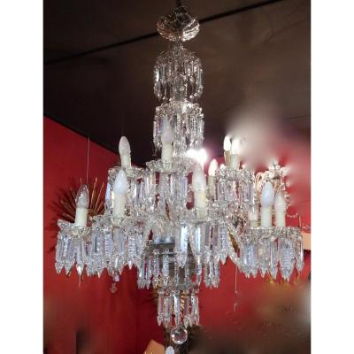 1950 ′ Chandelier 15 Branches 10 + 5 Baccarat