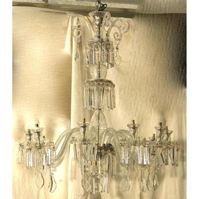 1890 'bohemian Crystal Chandelier 10 Arms Of Light