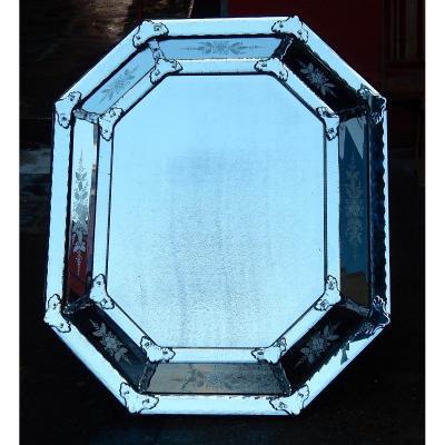 1820/50 Mirror St L XIV A Pareclose Tain Mercure 133 X 114 Cm