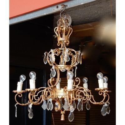 1950 ′ Medieval Style Chandelier Maison Jansen Style