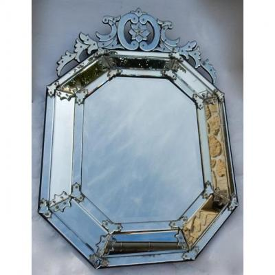 1880/1900 Louis XIV Style Mirror With 5 Branches Star 136 X 96 Cm