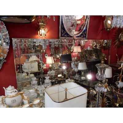 1900 ′ Venetian Bubble Mirror 250 X 174 Cm Cabochons Leaves