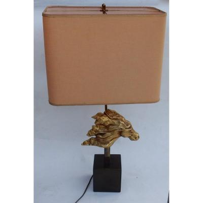 1970 ′ Gilt Bronze Horse Head Decor Lamp Dlg Duval Brasseur Unsigned