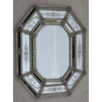 1950/70 'mirror Style Véronèse Octagonal Parecloses