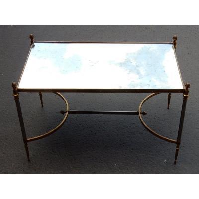1950/70′ Table Basse Maison Jansen 80 X 49 Cm