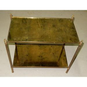 1950/70 ′ Maison Baguès Brass And Bronze Olympic Flames Shelf With Round Feet