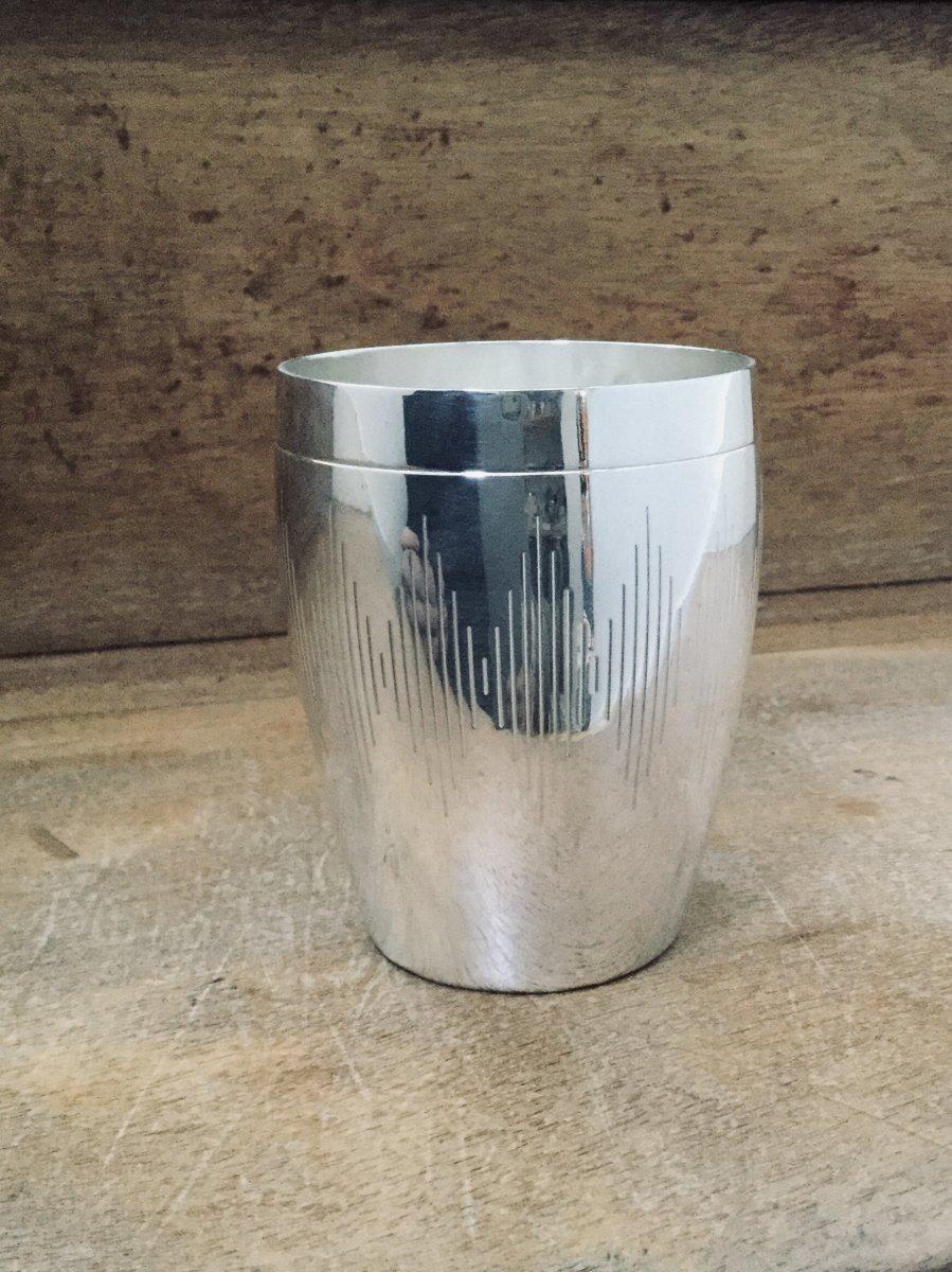 Olier Et Caron - Art Deco Timpani In Sterling Silver