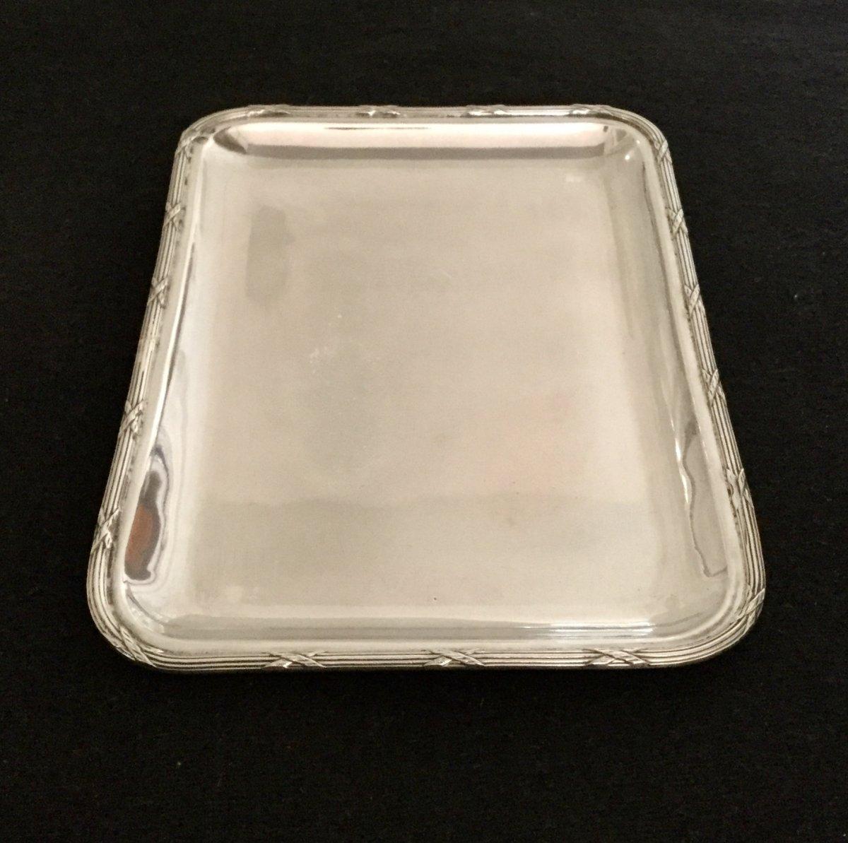 Silver Card Tray