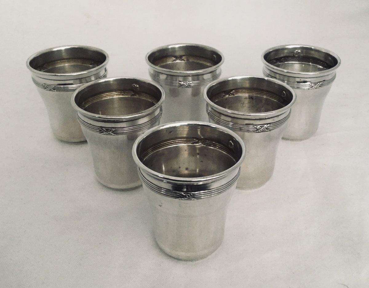 Charles Vincent - 6 Silver Goblets