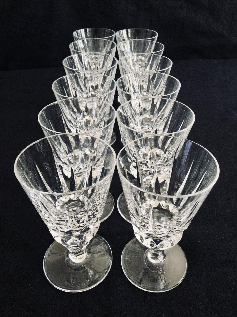12 Verres à Vin Blanc En Cristal De Saint-louis Modèle Guernesey -photo-2