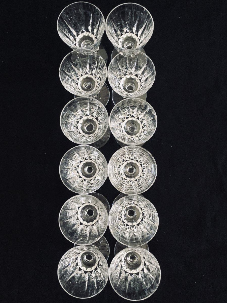 12 Verres à Vin Blanc En Cristal De Saint-louis Modèle Guernesey -photo-3