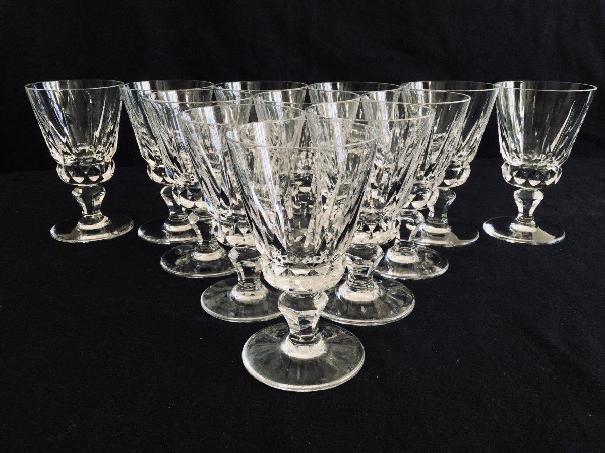12 Verres à Vin Blanc En Cristal De Saint-louis Modèle Guernesey
