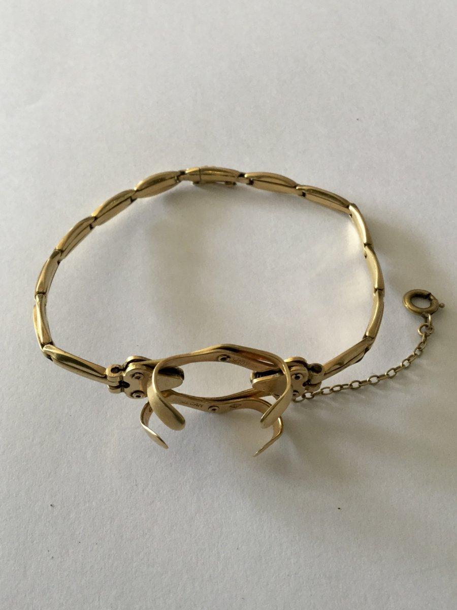 Bracelet Porte-montre Gousset En Or -photo-4