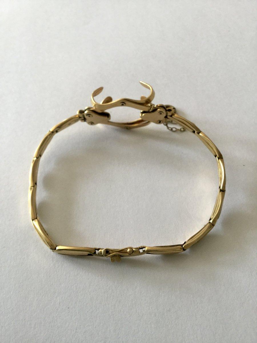 Bracelet Porte-montre Gousset En Or -photo-1