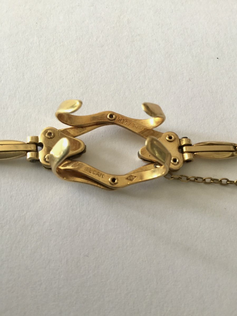 Bracelet Porte-montre Gousset En Or -photo-3