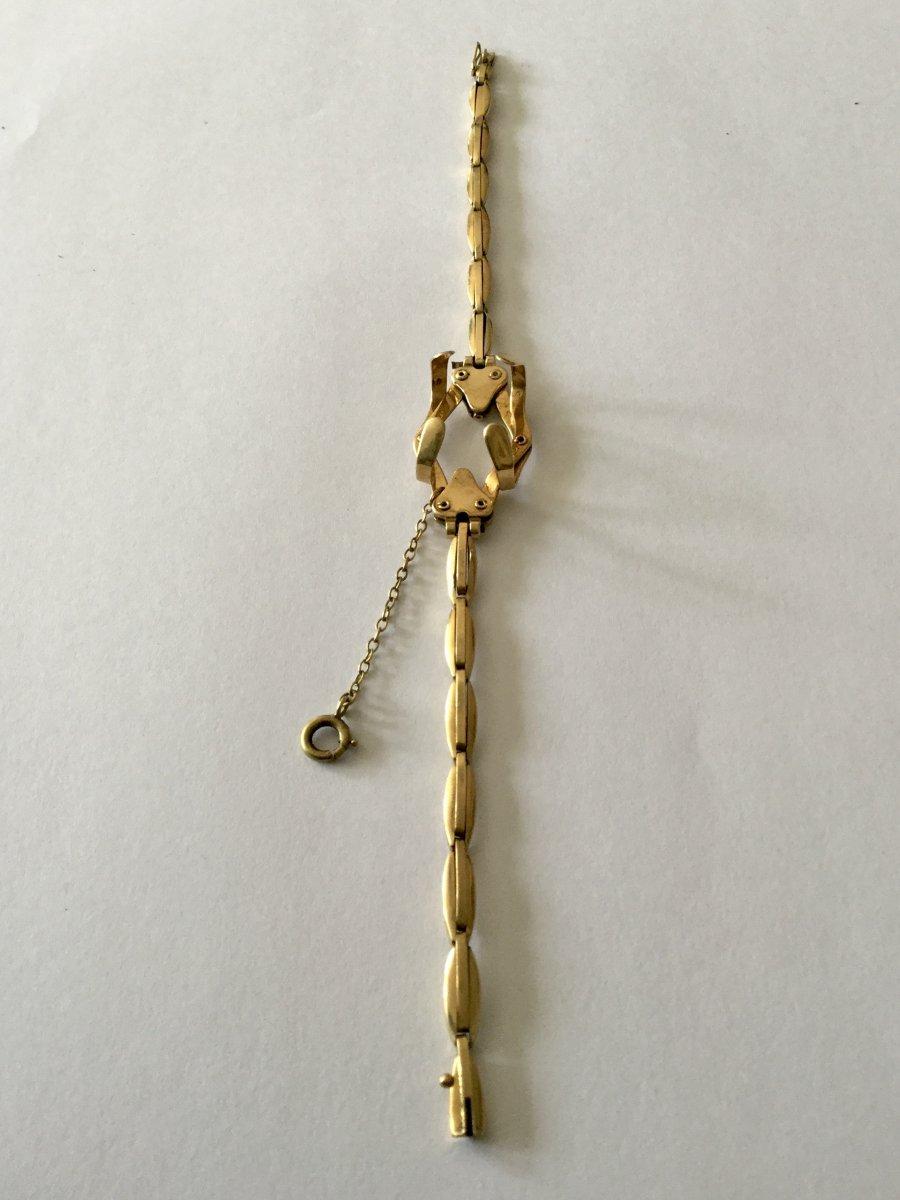 Bracelet Porte-montre Gousset En Or -photo-6