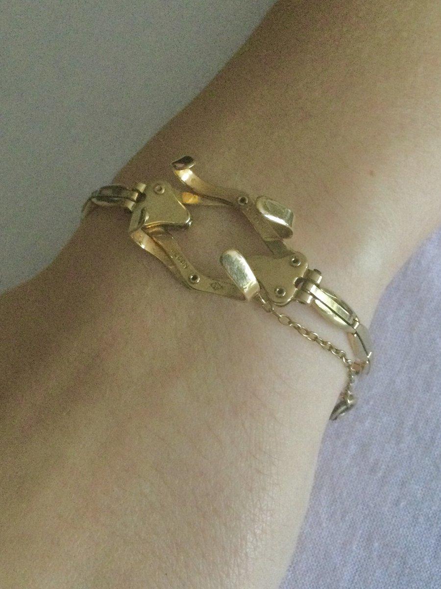 Bracelet Porte-montre Gousset En Or -photo-7