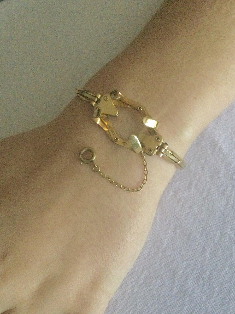 Bracelet Porte-montre Gousset En Or -photo-8