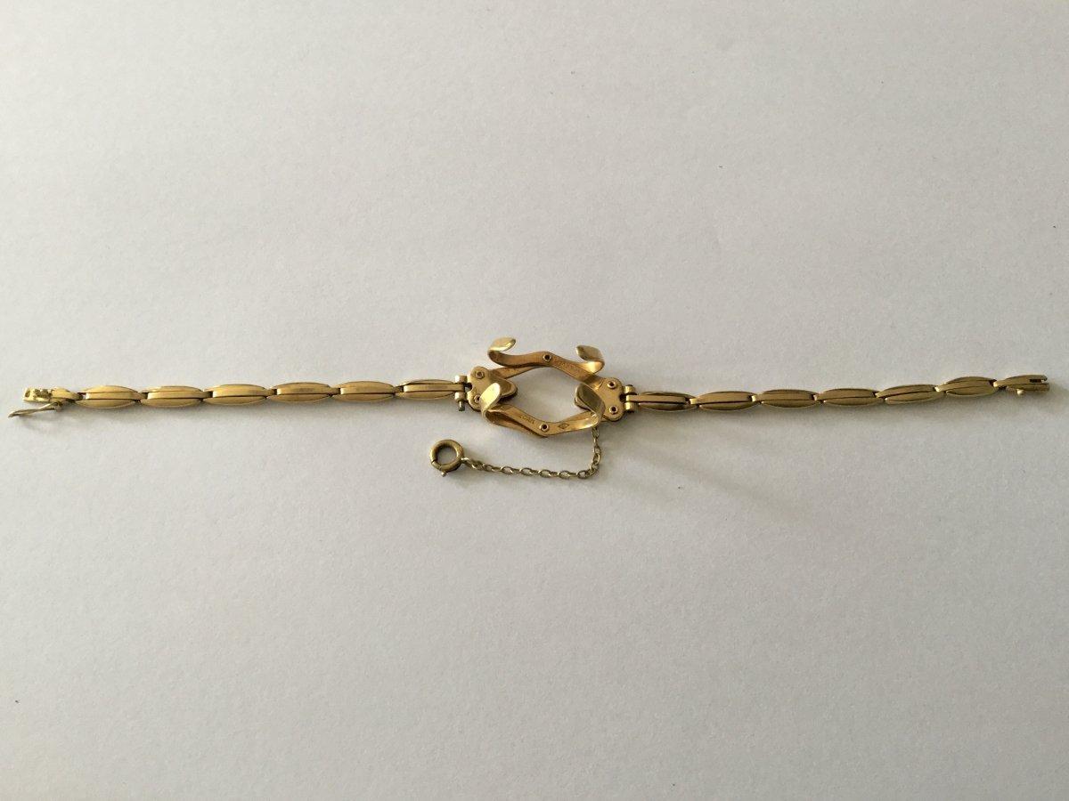 Bracelet Porte-montre Gousset En Or