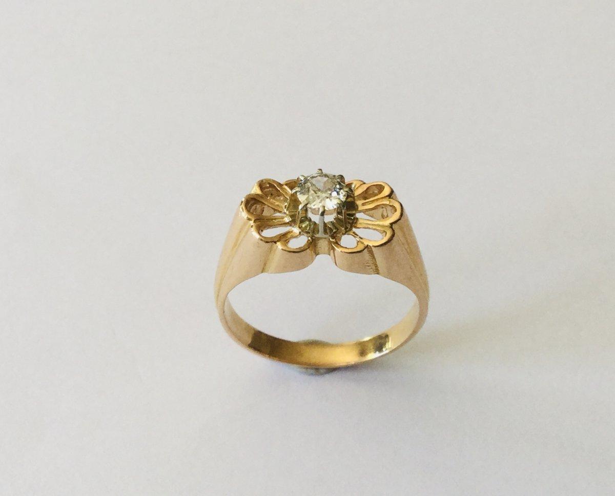 Bague Papillon Art Nouveau Or Et Diamant