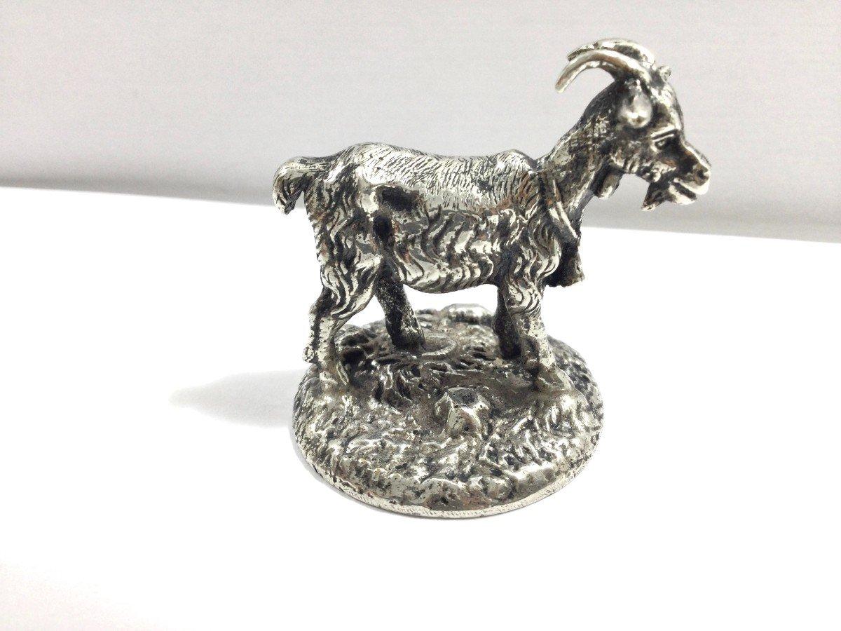 Mascotte Chèvre Bronze Argenté -photo-4