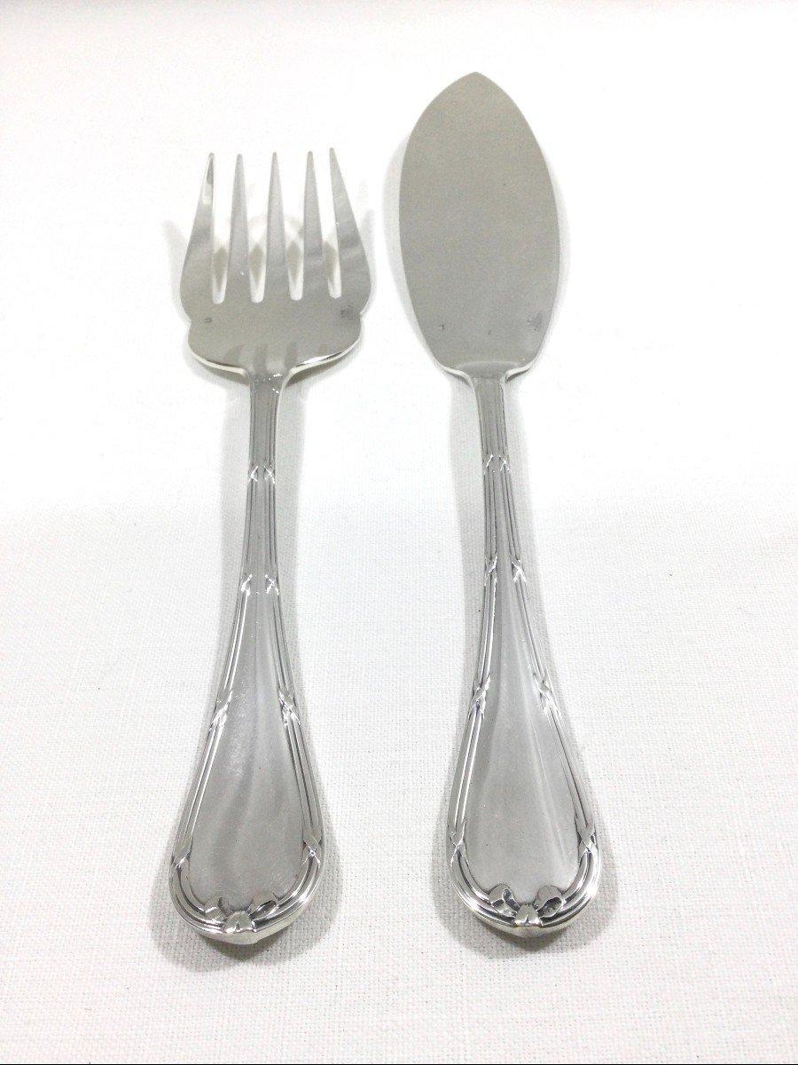 Christofle - Fish Service Cutlery Cross Ribbon Model