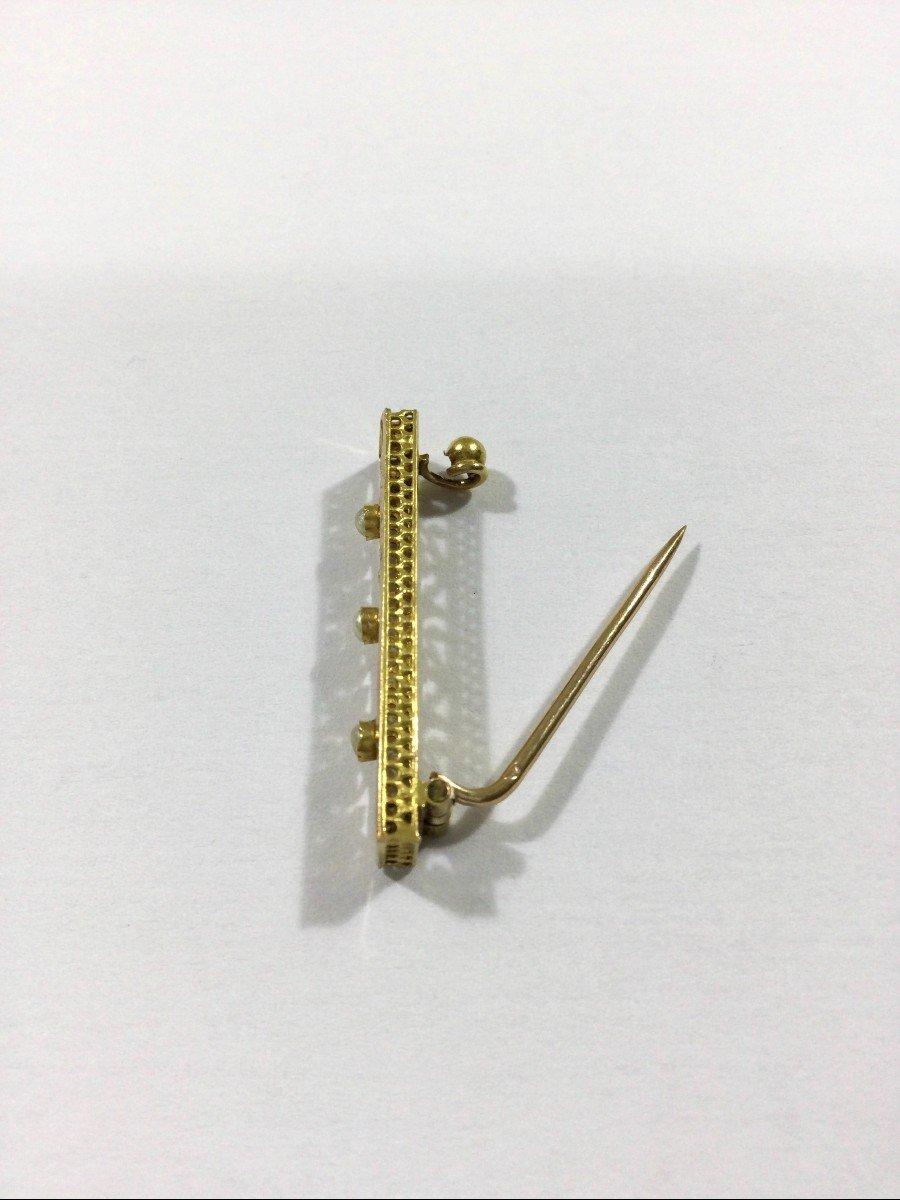 Broche Art Nouveau En Or Et Perles-photo-3