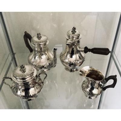 Tea Service Selfish Coffee In Silver Ravinet Denfert